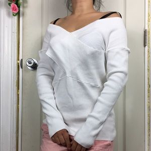 525 America Sweater Stretchy L NWOT Top White